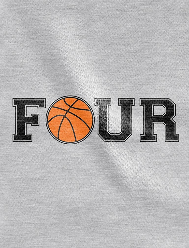 4th Birthday Gift for Four Year Old Basketball Toddler//Kids Long Sleeve T-Shirt