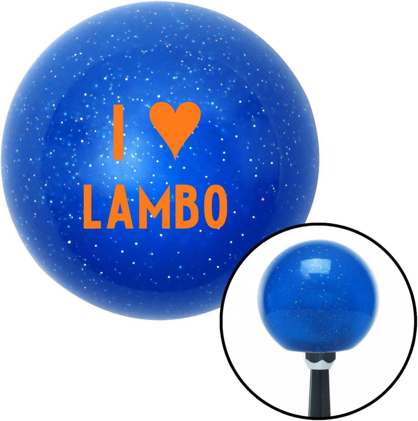 Orange I 3 Lambo American Shifter 23991 Blue Metal Flake Shift Knob