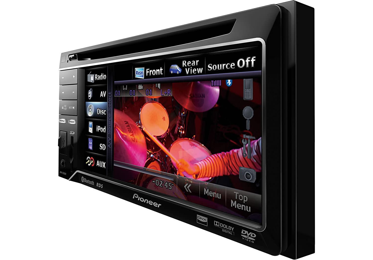 pioneer 4200. pioneer avh-3200bt double din bluetooth dvd player with 5.8 inch touchscreen: amazon.co.uk: electronics 4200