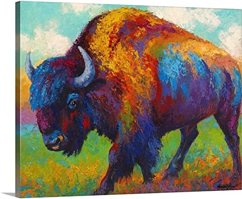 Prairie Muse Bison Canvas Wall Art Print