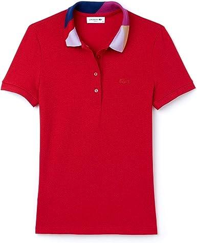 Lacoste PF8774-Polo Mujer Rojo Perse 34 ES (S): Amazon.es: Ropa y ...