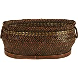"Wald Imports Brown Bamboo 13.75"" Decorative Storage Basket"