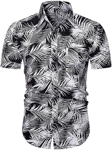 Cocoty-store 2019 Camisa Hawaiana para Hombre, Diseño de Palmeras, para la Playa, Fiestas, Verano y Vacaciones, S/M/L/XL/2XL: Amazon.es: Ropa y accesorios
