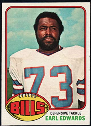Amazon.com: Football NFL 1976 Topps #213 Earl Edwards Bills ...