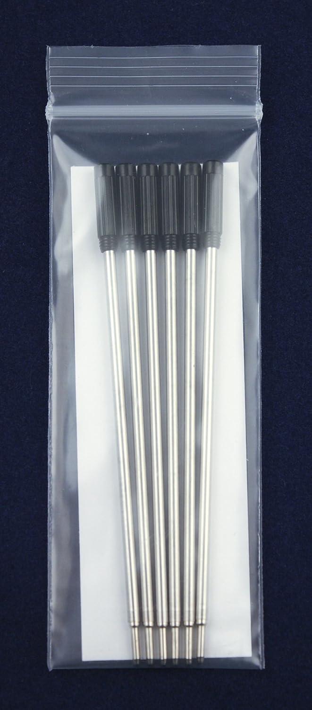 Jaymo Ricariche per penna a sfera compatibili con Cross/® blu # 8511 6 Inchiostro tedesco liscio e puntale medio 1mm