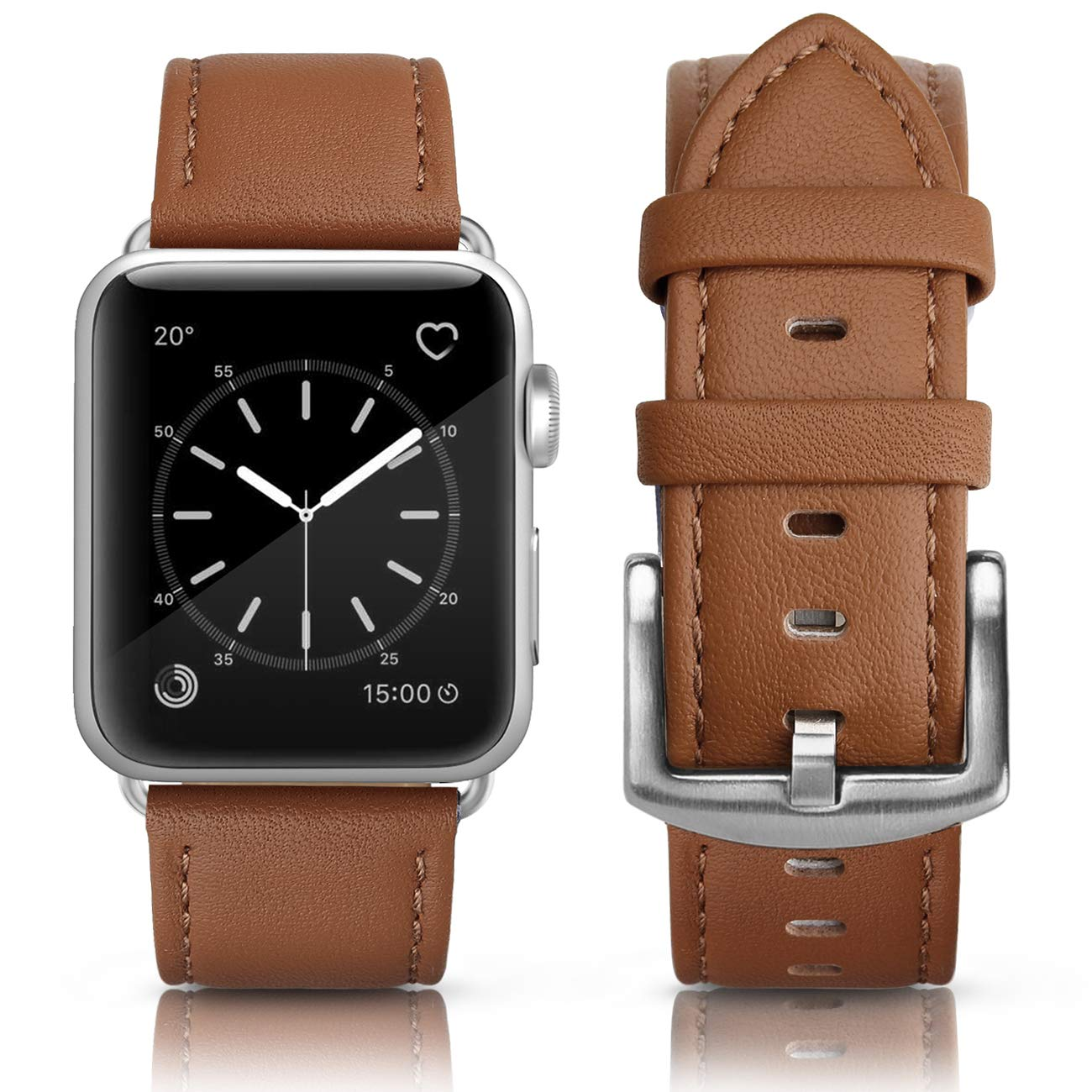 SWEES Leather Band Compatible iWatch 42mm 44mm, Genuine Leather Retro  Vintage Wristband Compatible iWatch Series 4, Series 3, Series 2, Series 1,  ... 84d74a02de6