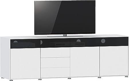 Jahnke – Mueble TV TL 620.3, Madera, Blanco, 45 x 200 x 61,5 cm: Amazon.es: Hogar