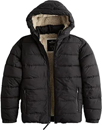 Hollister Recycled Fill Hooded Sherpa Lined Puffer Jacket ...