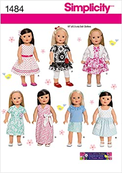 Doll Clothes Sewing Patterns for 18 inch Dolls