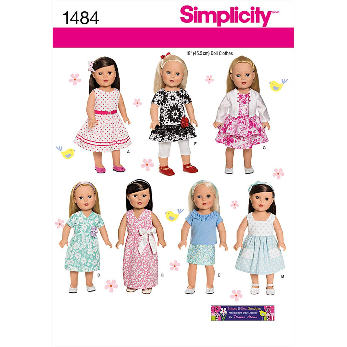 Simplicity Creative Patterns 1484 Doll Clothes, 18-Inch US1484OS