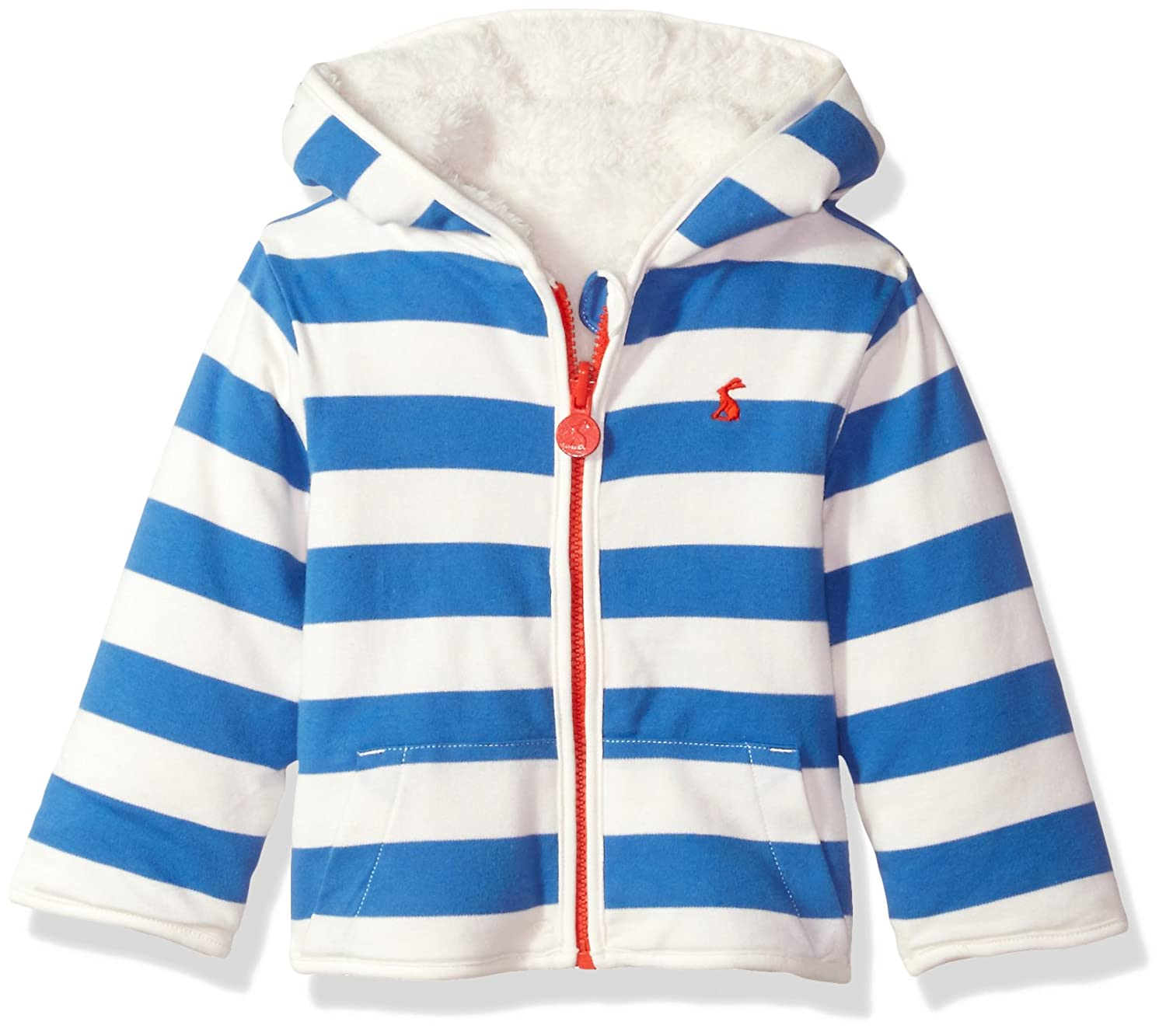Joules Baby Reversible Zip Fleece - Ocean Blue Stripe