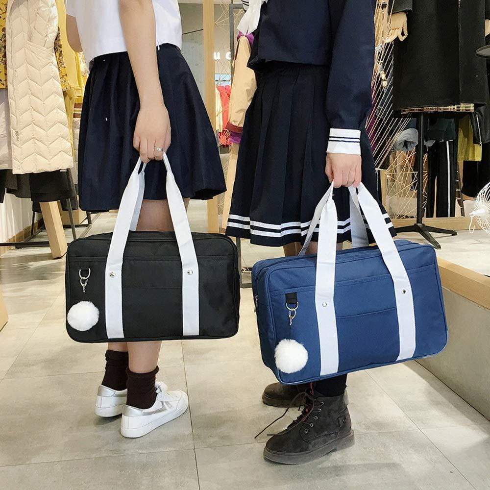 Bolsa de Viaje Bolsa Jk Bolsa de Uniforme Mujer Estudiante Japon/és Segundo Yuan Anime Hombro Fan port/átil Lienzo Bolsa de Estudiante de Secundaria Japonesa Color : Azul