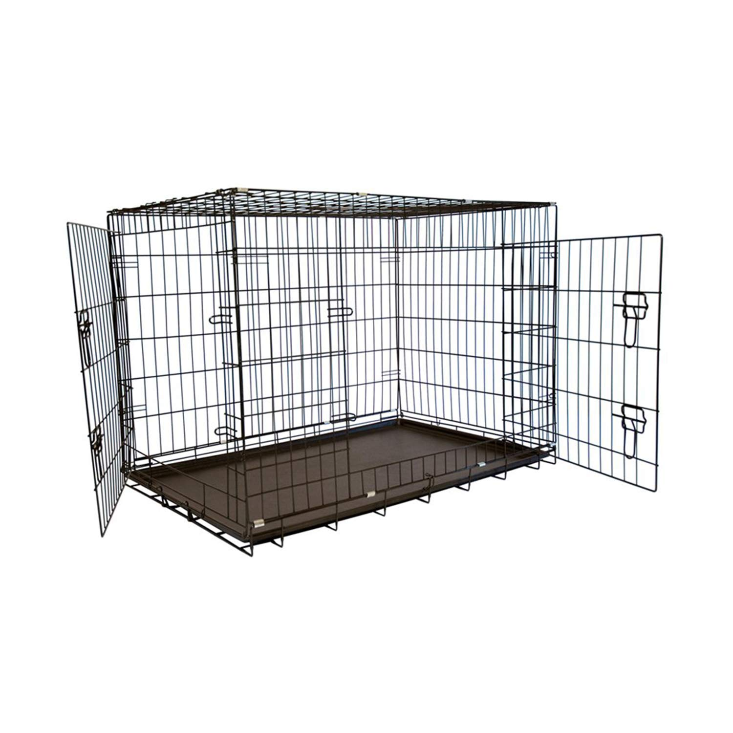 30\ Iconic Pet 30Inch Foldable Double Door Pet Training Crate with Divider