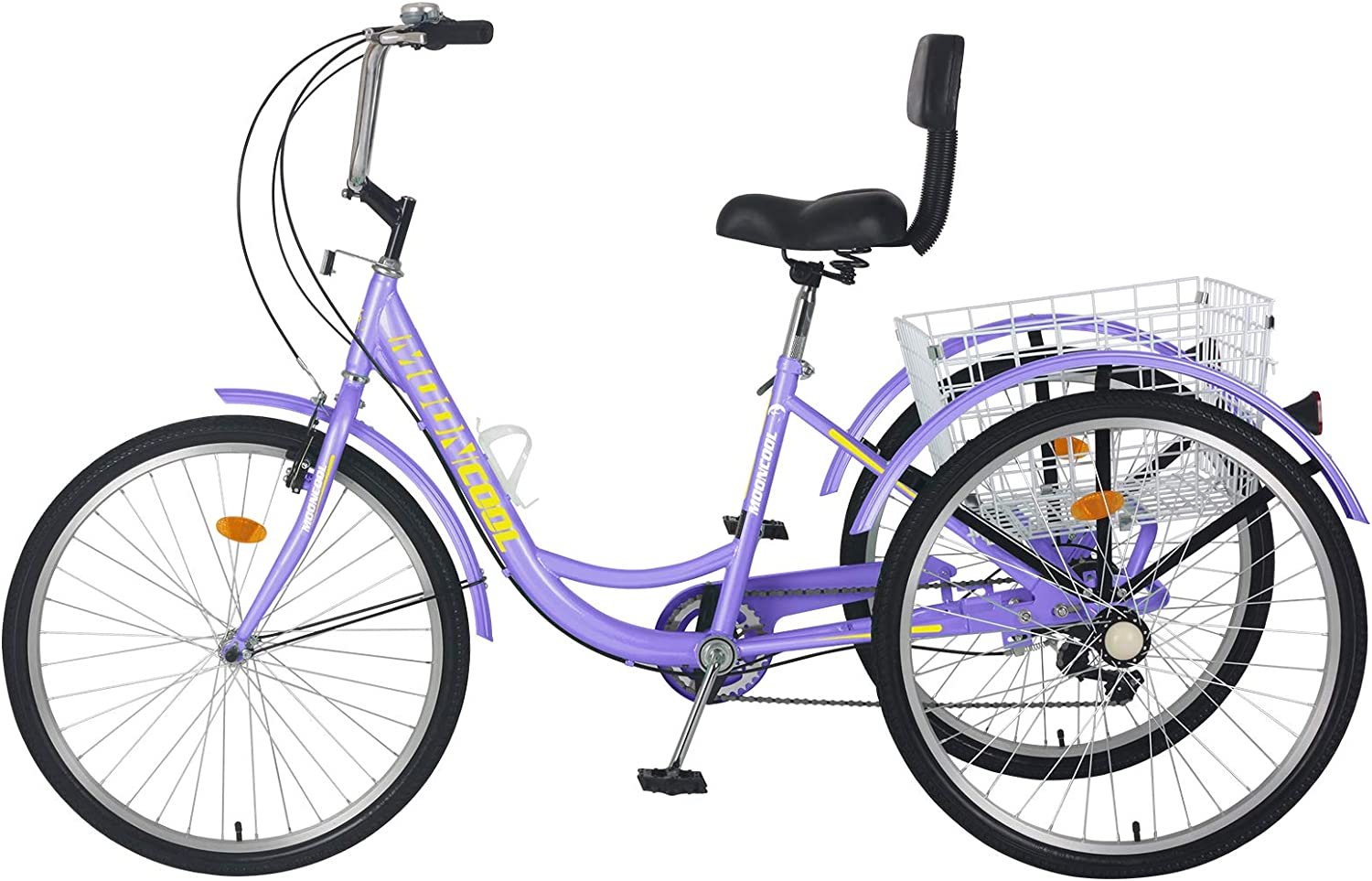 VANELL Adult Tricycle for Women 7 Speed Tricycle Adult Large Wheels Trike Cruise Bike 3 Wheeled Bicycle with Basket Especially for The Elder Shopping Exercise Recreation