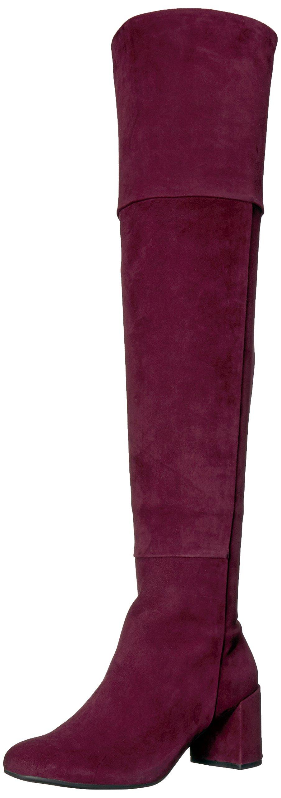 Taryn Rose Women's Catherine Silky Suede Fashion Boot, Wine, 9 M M US