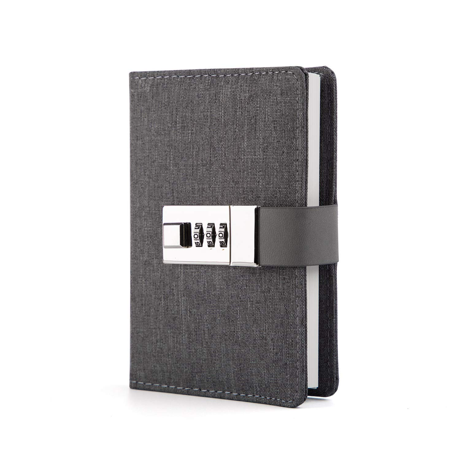 Lock Journal Combination Lock Writing Travel Diary a7 Mini Notebook
