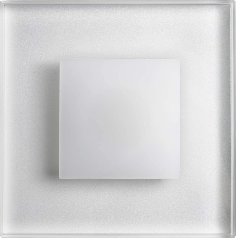 Juego 8 LED Escaleras Iluminación Premium sunled Max 230 V 3 W Blanco Frío Cristal de gran calidad apliques luz escaleras con cajetín Escaleras de niveles de iluminación empotrable: Amazon.es: Iluminación