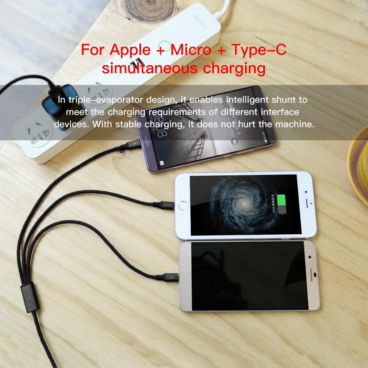 Multi Usb Cableusb To Lightning Micro C 3 In 1 Otg Metalik Fleco Braided Charging Cable For Iphone X 8 Plus 7 Ipad Macbook Galaxy S8 Note Lg