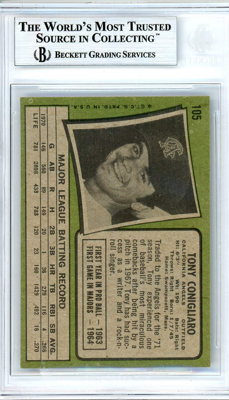 Tony Conigliaro Autographed 1971 Topps Card Autographed #105