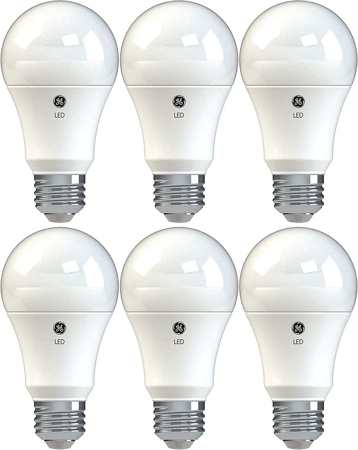 GE Lighting 99215 Dimmable Bulbs 10 (60-Watt-Replacement), 800-Lumen, Medium Base A19 General Purpose LED, 6-Pack, Soft White, 6