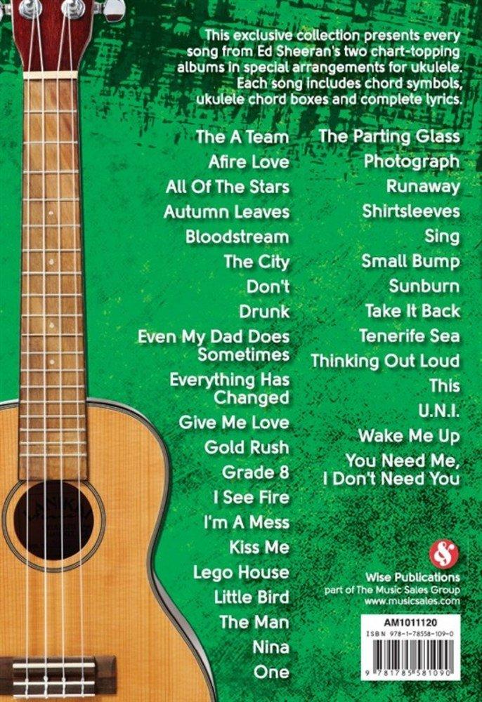 Ed Sheeran Ukulele Chord Songbook Amazon Ed Sheeran Books