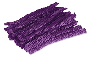 Happy Bites Huckleberry Licorice Twists - Certified Kosher - Gourmet - Low Fat - Made with Real Fruit Juice - 1 Pound Bag (16 oz)