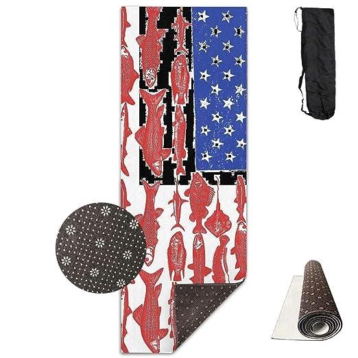 Esterilla de yoga de lujo con bandera de Estados Unidos ...