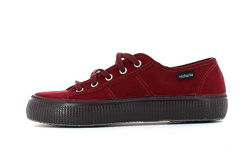 Zapatillas Victoria 07305 - Blucher de Antelina con Suela Doble Burdeos: Amazon.es: Zapatos y complementos