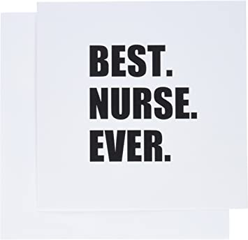 3dRose Greeting Cards, 6 x 6 Inches, Pack of 12, Best Nurse Ever - Worlds Greatest Nursing Staff (gc_179785_2)