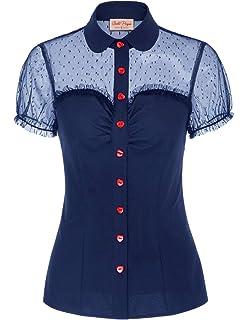 Voodoo Vixen Womens Julie Black Collar Shirt