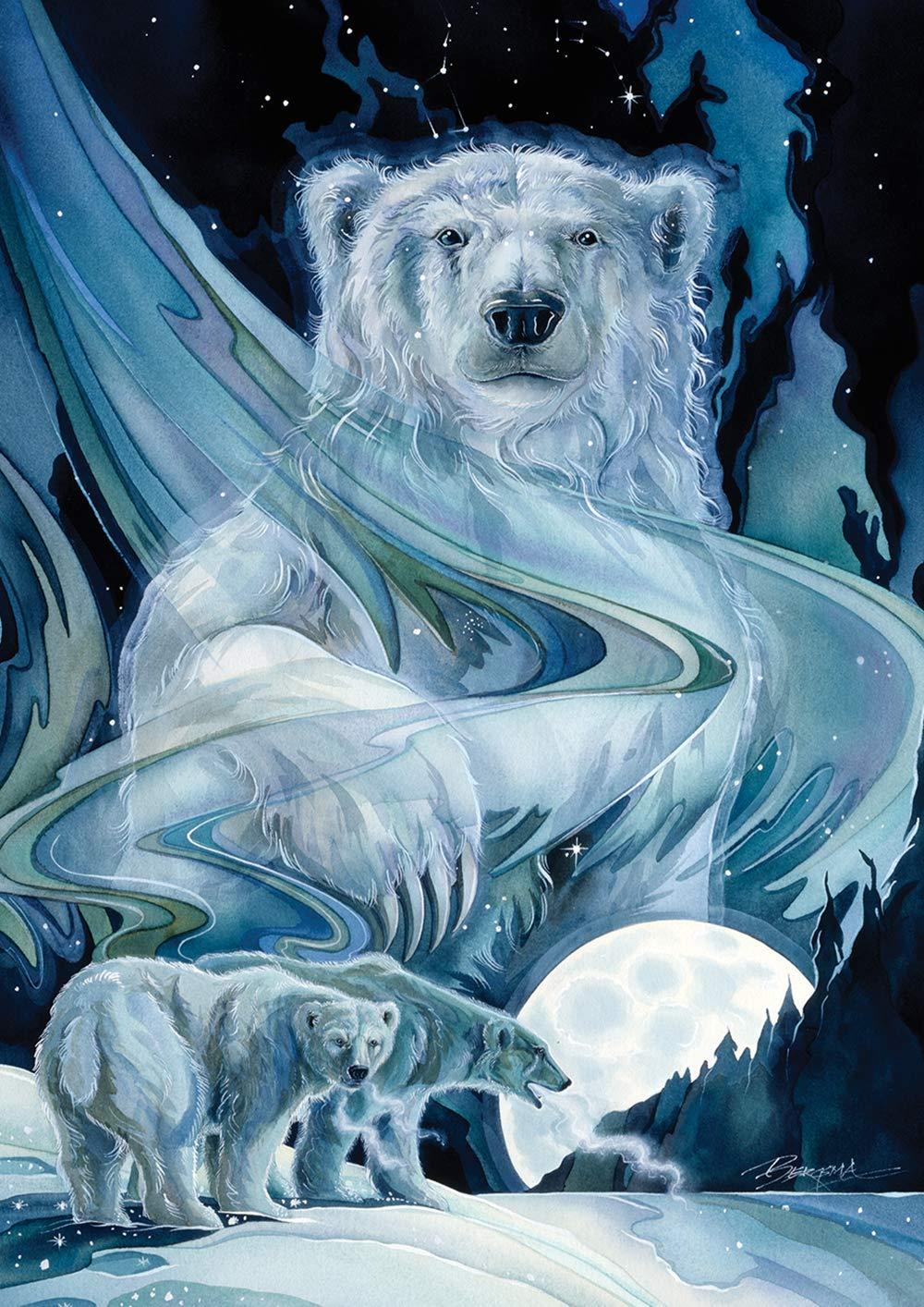 Toland Home Garden 1012244 Moonlight Polar Bears 28 x 40 Inch Decorative, Winter Animal Moon House Flag