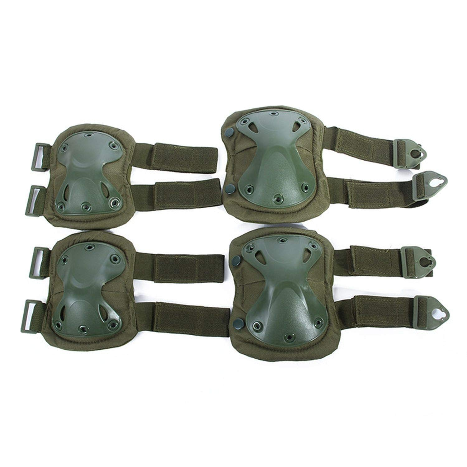 B size 4 PCS Set Tactical Knee Pads Sets Outdoor Sports Paintball Military Predective Gear Knee Elbow Pads Brace Predectors