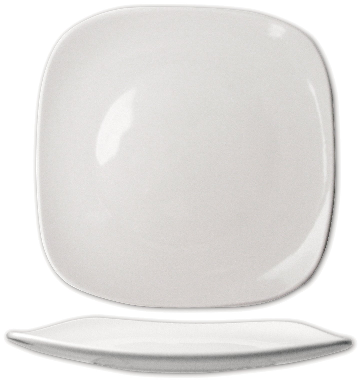 ITI-QP-9 Quad 9-3/4-Inch Square Plate, 24-Piece, White