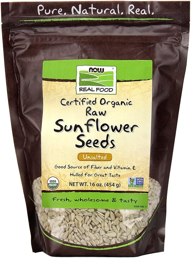 NOW Foods, Sunflower Seeds, Raw and Unsalted, Hulled for Great Taste, Excellent Source of Vitamin E and Magnesium, Grown in The USA, Certified Non-GMO, 1-Pound