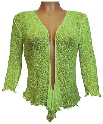 Ikat Ladies Crochet Fish Net Bolero Shrug Maternity Tie at Waist ...