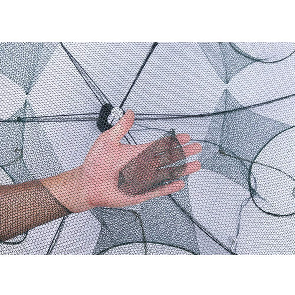 1pcs automatischer Fischernetz-Fischen-Falle-faltender Panzerkrebsf/änger Ineinander greifen-Blockierk/äfig Harddo tragbares gefaltetes Fischernetz