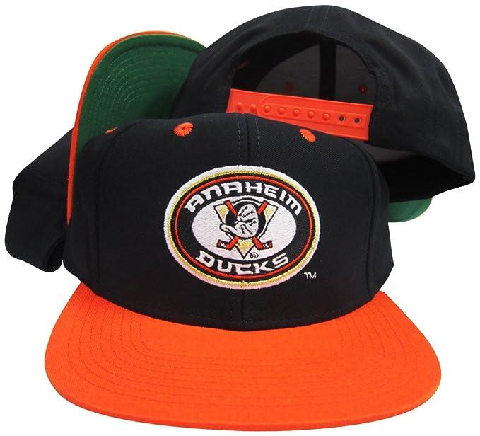 Amazon Com Reebok Anaheim Mighty Ducks Black Orange Adjustable