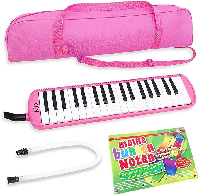 Keepdrum Melodica Pink - Set de 37 teclas con funda y ...
