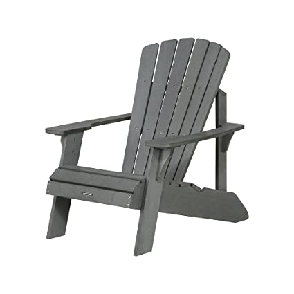 Lifetime Faux Wood Adirondack Chair Gray - 60204  sc 1 st  Amazon.com & Amazon.com : Lifetime Faux Wood Adirondack Chair Gray - 60204 ...