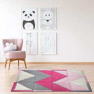Play Mat – Floor Mats for Kids – Crawling Mat – Foam Floor Tiles – Baby Floor Mat – Triangle Chevron Design