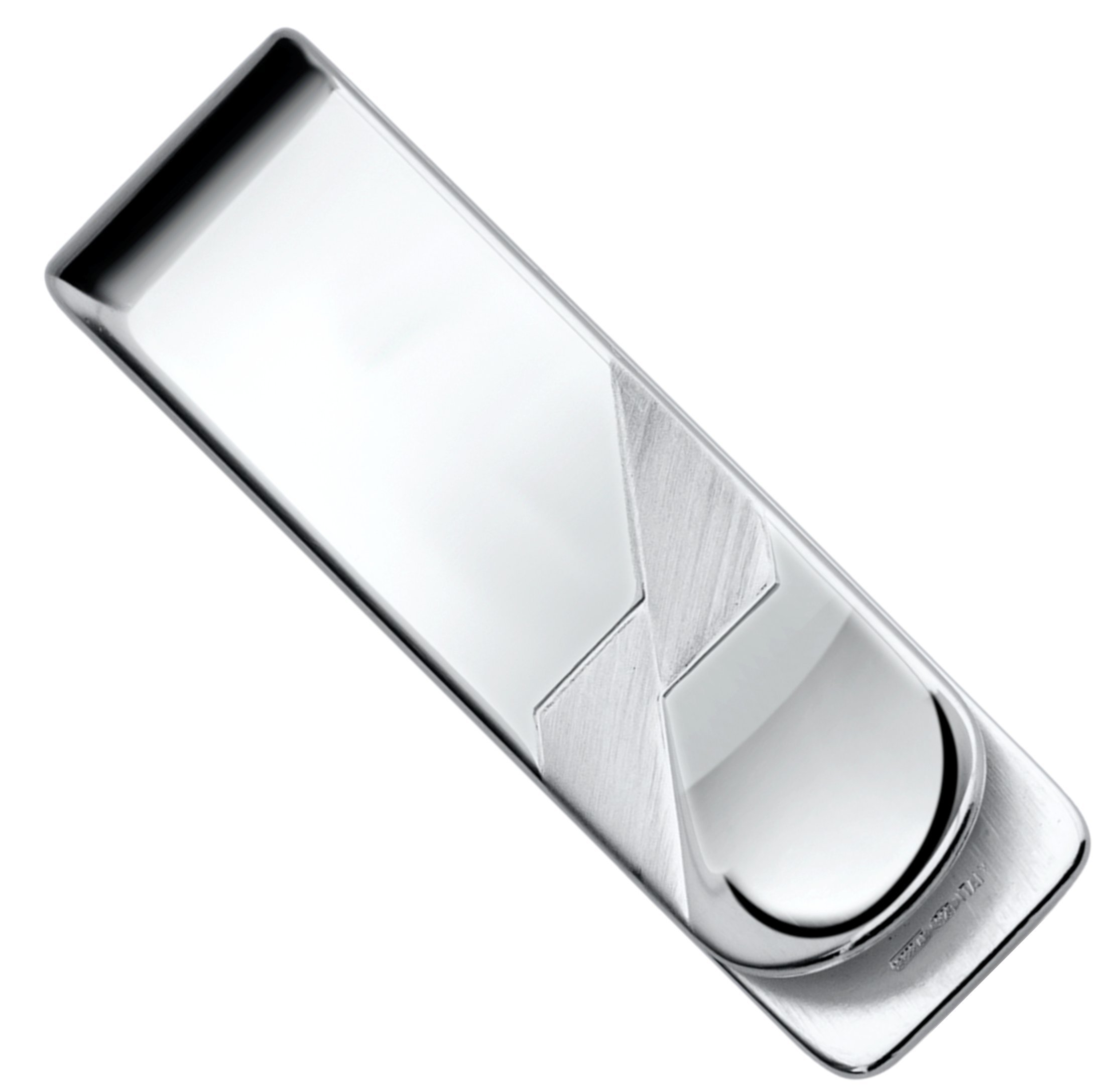 Sterling Silver .925 Money Clip Solid Design Satin Accents, Hand Polished, Engravable, Designed and Made In Italy. By Sterling Manufacturers