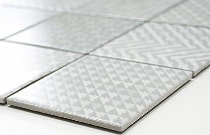 Rete mosaico mosaico piastrelle quadrati geo grey ceramica mosaico