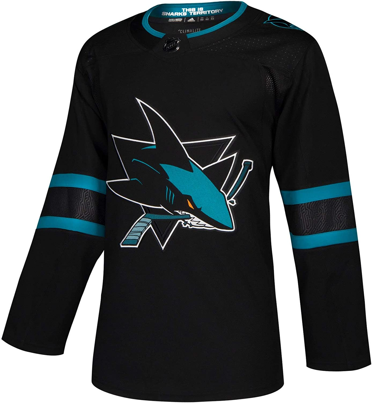 adidas San Jose Sharks NHL Men's Climalite Authentic Alternate Hockey Jersey