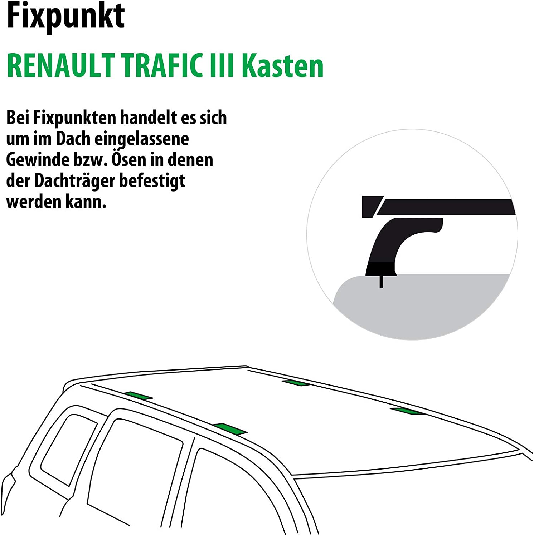 117687-12792-3 Rameder Komplettsatz Dachtr/äger WingBar EVO f/ür Renault TRAFIC III Kasten