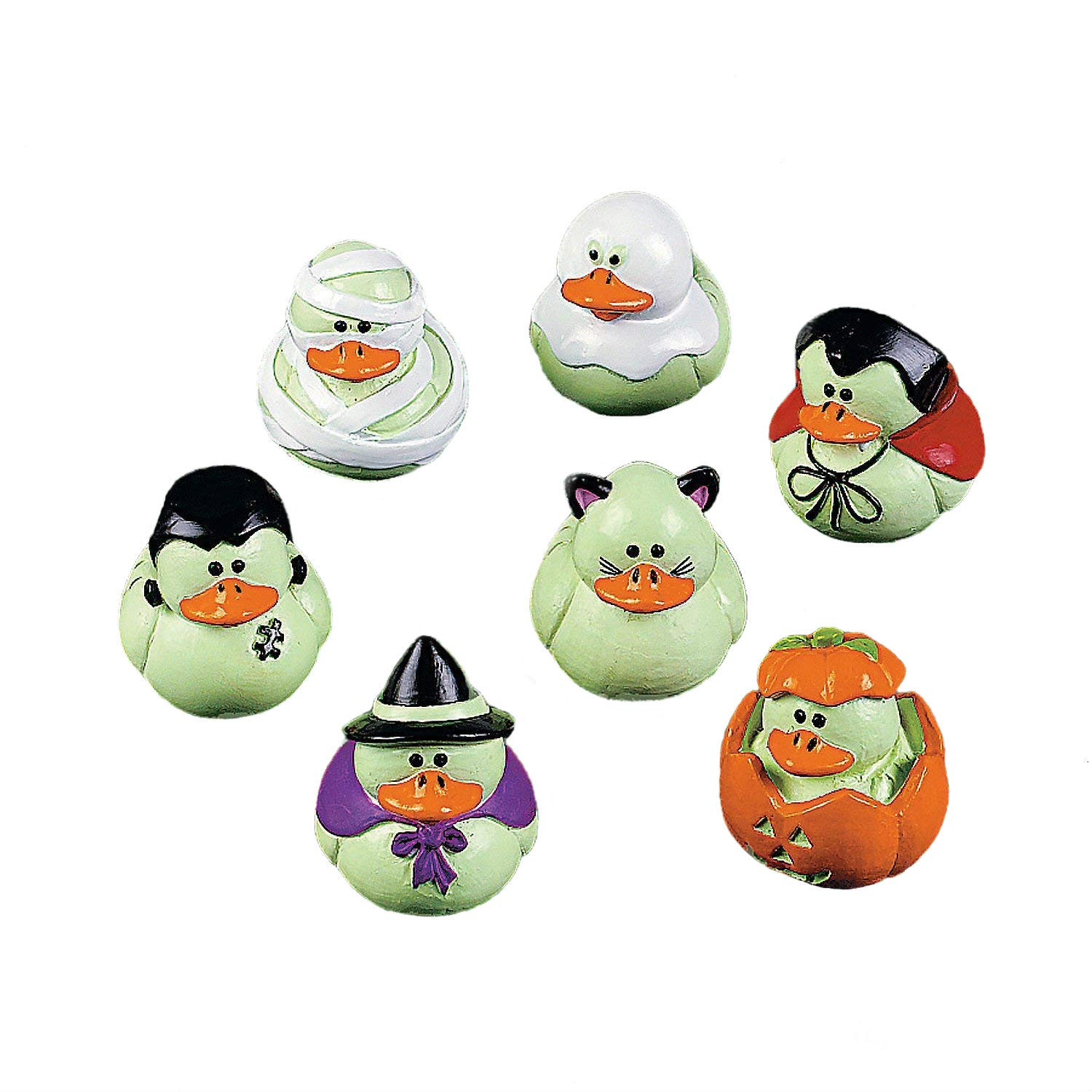 Fun Express Vinyl Mini Glow In The Dark Rubber Ducks 2