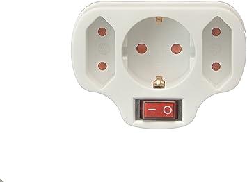 Multistecker Adapter Schuko Verteiler Mehrfachstecker 3 Fach Mit Schalter Baumarkt