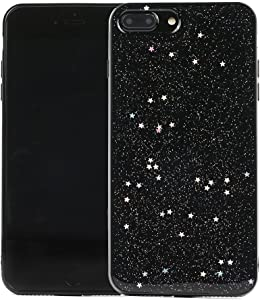 TycoonYu iPhone 7 Plus Case Soft Spark Glitter Shine Star TPU Cover Case for iPhone 7 Plus 5.5 inch (Black)