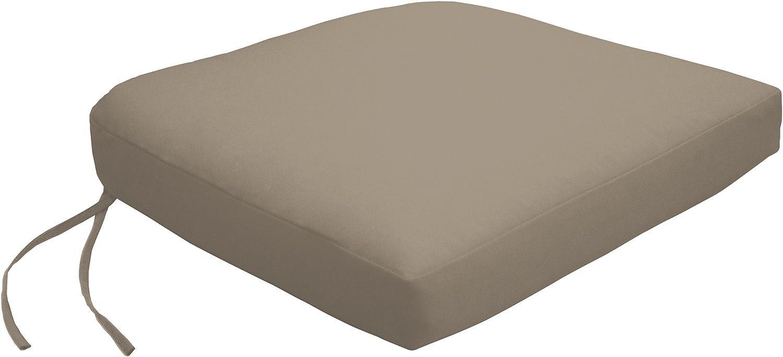Custom x Easy Way Products 3U-C3 Contour Dining Chair Cushion, 3x3,  Sandstone