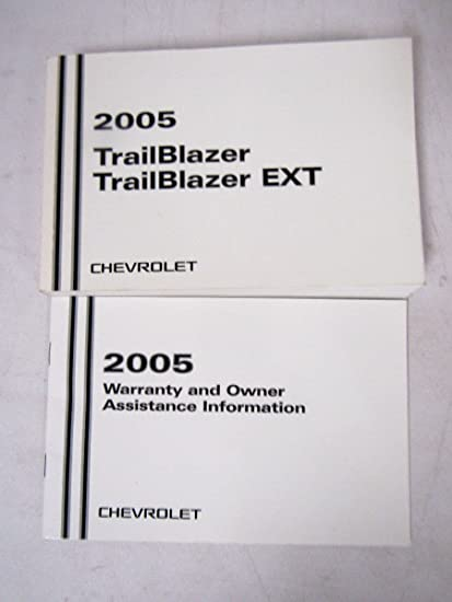 amazon com 2005 chevy chevrolet trailblazer owners manual rh amazon com 2007 Chevy Trailblazer 4x4 2010 Chevy Trailblazer