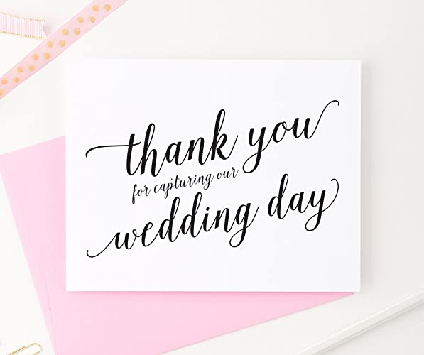 Amazon.com: Thank You for Capturing Our Wedding, Wedding Card to